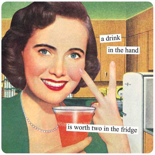 Anne Taintor Magnet A Drink In The Hand