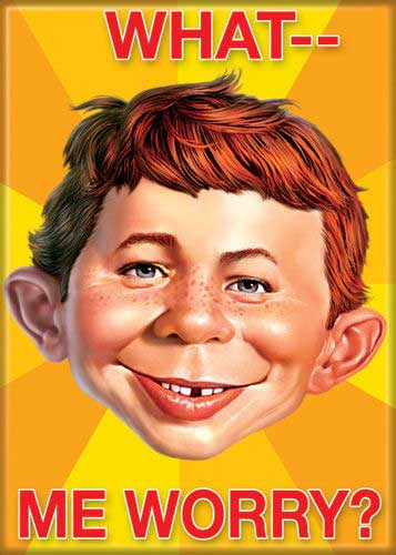Ata-Boy Magnet Mad Magazine Alfred E. Neuman What Me Worry | Happy ...